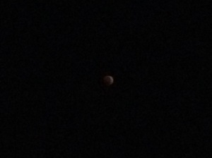 Lunar Eclipse Seen From Our House