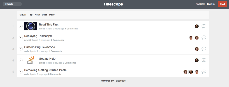 Default Telescope App